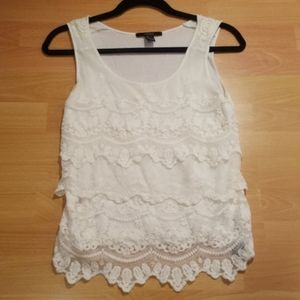 Forever 21 White Lace Camisole Cami